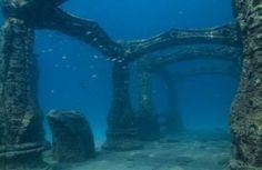 underwater ruins of tumbir | ... sunken cities undersea ruins archaeology ruins photography underwater