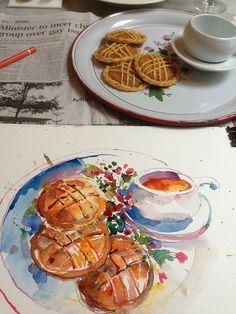 Paul Wang - Lunar New Year Goodies (Urban Sketchers)