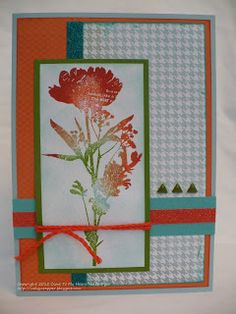 The Inky Scrapper: September Stamp of the Month Blog Hop: Paper Garden