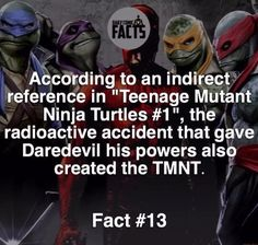 TMNT and dare devil fact