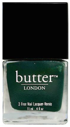 Dark green Butter nail polish