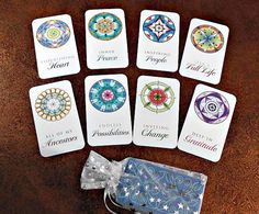 Mandala Meditation Deck - 24 Original Designs Hand Drawn in Coloured Pencil, with Inspiring Words to Ground, Focus and Relax You!