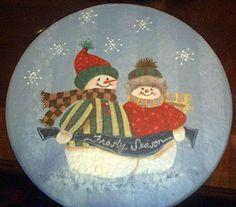 painted snowman box