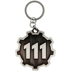 Hot Topic Fallout 4 Vault 111 Logo Key Chain ($4.87) ❤ liked on Polyvore featuring accessories, multi, logo key chains and fob key chain