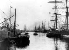 Port of London, West India Docks, Poplar Dock Old London, London 1800, 19th Century London, East End London, Victorian London, London England, Vintage London, London City, Victorian Era