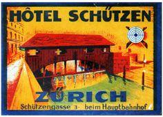 Svizzera - Zurigo - Hotel Schutzen by Luggage Labels by b-effe, via Flickr