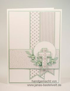 Find ideas and information about Stampin & # s on a regular basis here. - Find ideas and information about Stampin & # s on a regular basis here. Confirmation Cards, Baptism Cards, Christening Card, Christening Headband, First Communion Cards, Première Communion, Kids Cards, Baby Cards, Christian Cards