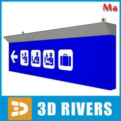 Airport Sign 01 Ma - 3D Model