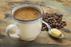 Sugary coffee drinks are out; healthy coffee drinks are in! Make them at home with this totally clutch coffee maker and these health-boosting coffee hacks. Café Bulletproof, Canned Butter, Coconut Oil Coffee, Mct Oil In Coffee, Coconut Water, Healthy Holistic Living, Grass Fed Butter, Coffee Recipes, Coffee Drinks
