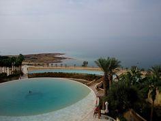 Infinity pool at Kempinski Ishtar on the Dead Sea in Jordan.