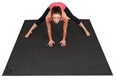 Large YOGA Mat. Extra Long, Extra Wide 72-Inch X 72-Inch (6 ft x6 ft) & 6mm Thick. Soft, Plush, and Sticky Yoga Mat With Comfort Foam. The BIG Yoga Mat - 3X Larger Than A Standard Sized Yoga Mat. Designed For Yoga & Stretching Without Shoes. Square36.