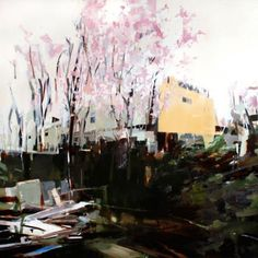"""""""Backyard,"""" by Alex Kanevsky, oil on linen, 66 x 66 in."""