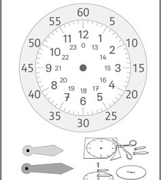 Preschool Learning Activities, Home Learning, School Worksheets, Worksheets For Kids, Clock Labels, School Calendar, Teaching Time, Science Experiments Kids, Math For Kids