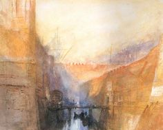 Venice: An Imaginary View of the Arsenale. Joseph William Turner.
