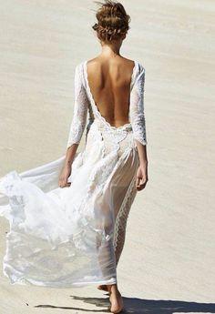 Vestido novia playa