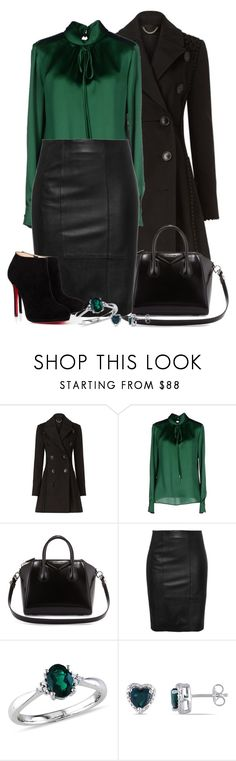 """""""emerald fall"""" by lilly517 ❤ liked on Polyvore featuring Burberry, Dsquared2, Givenchy, Stand, Ice and Christian Louboutin"""