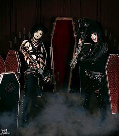 Jinxx and Jake of Black Veil Brides. Coffin Case / BC Rich Promo by sammi.doll, via Flickr