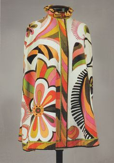 Pucci velvet cape, 1960s, from the Vintage Textile archives.