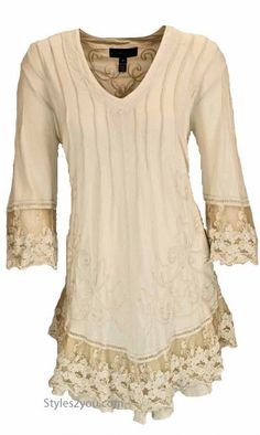 GZ Miriam PLUS SIZE Tunic In Natural Stain