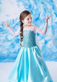 Congelados traje Elsa inspirado traje 6/7