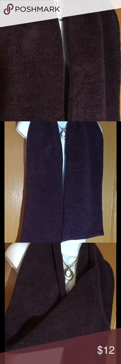 Heavy Cotton Winter Scarf in Deep Purple NWOT This is a very warm and beautiful winter scarf. Double layer of heavy cotton (almost like corduroy) in a deep wine purple. Length is 60 inches and it's 9 inches wide. Never worn...it was a gift, but I don't do purple. Perfect, unused condition. Accessories Scarves & Wraps