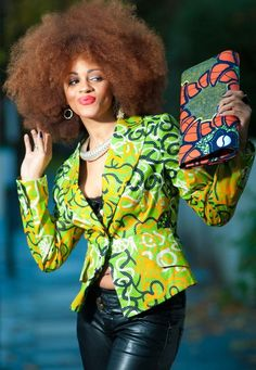 Beautiful style. More inspiration: http://curlsunderstood.com