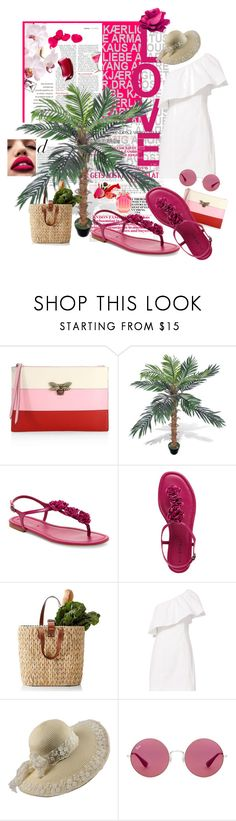 """Flat Sandals"" by littlediva ❤ liked on Polyvore featuring Gucci, A.L.C., Ray-Ban and Victoria's Secret"