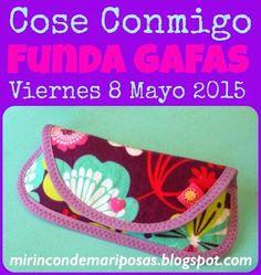 mi rincón de mariposas: CC Funda para gafas - ¡a coser! 8 de mayo de 2015