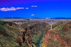 New Mexico Art - Rio Grande Gorge Bridge Taos County NM by Troy Montemayor Taos New Mexico, New Mexico Homes, Mexico Art, Mexico Style, New Mexico Tourist Attractions, Rio Grande Gorge, Dallas Travel, Historical Landmarks, Land Of Enchantment