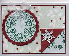 Stamp of the Month November 2011 - Great Impressions Rubber Stamps Diy Cards Stamps, November, Wreaths, Christmas Ornaments, Holiday Decor, November Born, Door Wreaths, Christmas Jewelry, Deco Mesh Wreaths