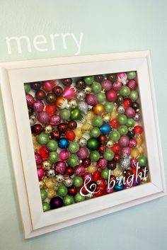 Christmas Bulb Shadow Box....quick and easy!!