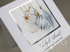 Kartki bożonarodzeniowe firmowe ręcznie robione ze srebrzeniem. Place Cards, Place Card Holders, Design