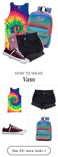 """""""Colours and collars"""" by xxabbeybearxx on Polyvore featuring Vans, Levi's, Converse, women's clothing, women, female, woman, misses and juniors"""