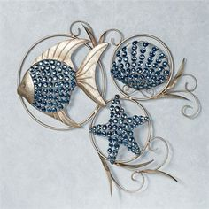 Ocean Gems Fish and Seashell Metal Wall Art                                                                                                                                                                                 More