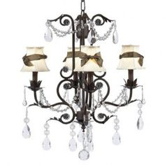 Jubilee 7508-24 4 Light Valentino Chandelier, Mocha