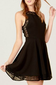 This Forever Her Boutique black with lace dress is the perfect combination of trendy and elegant