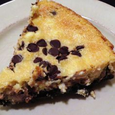 Chocolate Chip Cheesecake with Oreo Crust Recipe | Just A Pinch Recipes