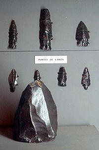 Maya civilization - Obsidian spearheads with a lithic core, Takalik Abaj Wikipedia, the free encyclopedia