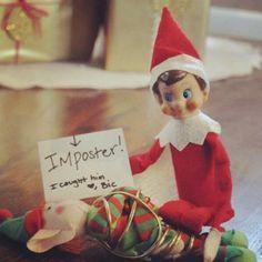 Elf on shelf decorates kitchen with sticky bows. Merry Christmas, Christmas Holidays, Christmas Crafts, Xmas, Christmas Kitchen, Christmas Humor, Christmas Ideas, Bad Elf, Awesome Elf On The Shelf Ideas