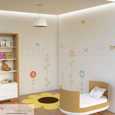 Adesivo de parede para decoração de quarto de bebê e infantil | SP,BH, MG, RJ, DF | Flores, pássaros, passarinhos, borboletas, girassol, plantas, jardim