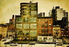 View from the High Line, New York © Fran Forman High Line, Photomontage, Cityscapes, Photo Wall, New York, Fine Art, Phone, Painting, Image