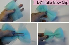 DIY Tulle Bow Clip! Trying to help Erica put together her 80's costume