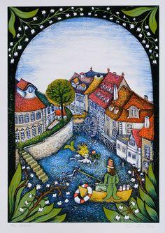 Klikněte pro zavření okna. Eastern Europe, Prague, City Photo, Illustration Art, Artist, Pictures, Painting, Glass, Photos