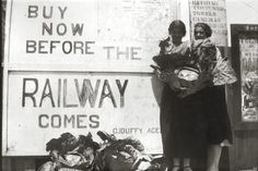 Dorothy and Connie Dean, outside Duffy's Store, The Entrance, New South Wales, selling huge cabbages, before the railway comes in 1920's.
