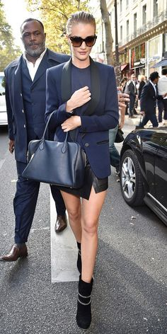 As You Expect: Rosie Huntington-Whiteley Looks Amazing at Paris Fashion Week via @WhoWhatWear