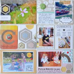 Project Life layout made with the #epiphanycrafts Shape Studio Tool Hexagon.  www.epiphanycrafts.com #scrapbook