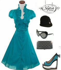 Vintage 50's pinup bolero dress  Sizes: Small - 3xl