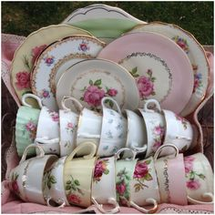 One can never have too much pretty vintage china! My own personal collection. My image  Tracey Sturges from Shabby Inspired