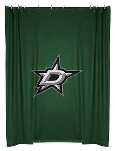 Dallas Stars NHL Sports Coverage Team Color Shower Curtain #SportsCoverage #DallasStars