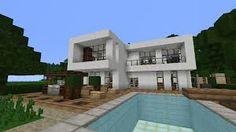 Minecraft Modernes Haus Weißgrau Bauen TutorialAnleitung - Minecraft hauser zum nachbauen fur anfanger deutsch